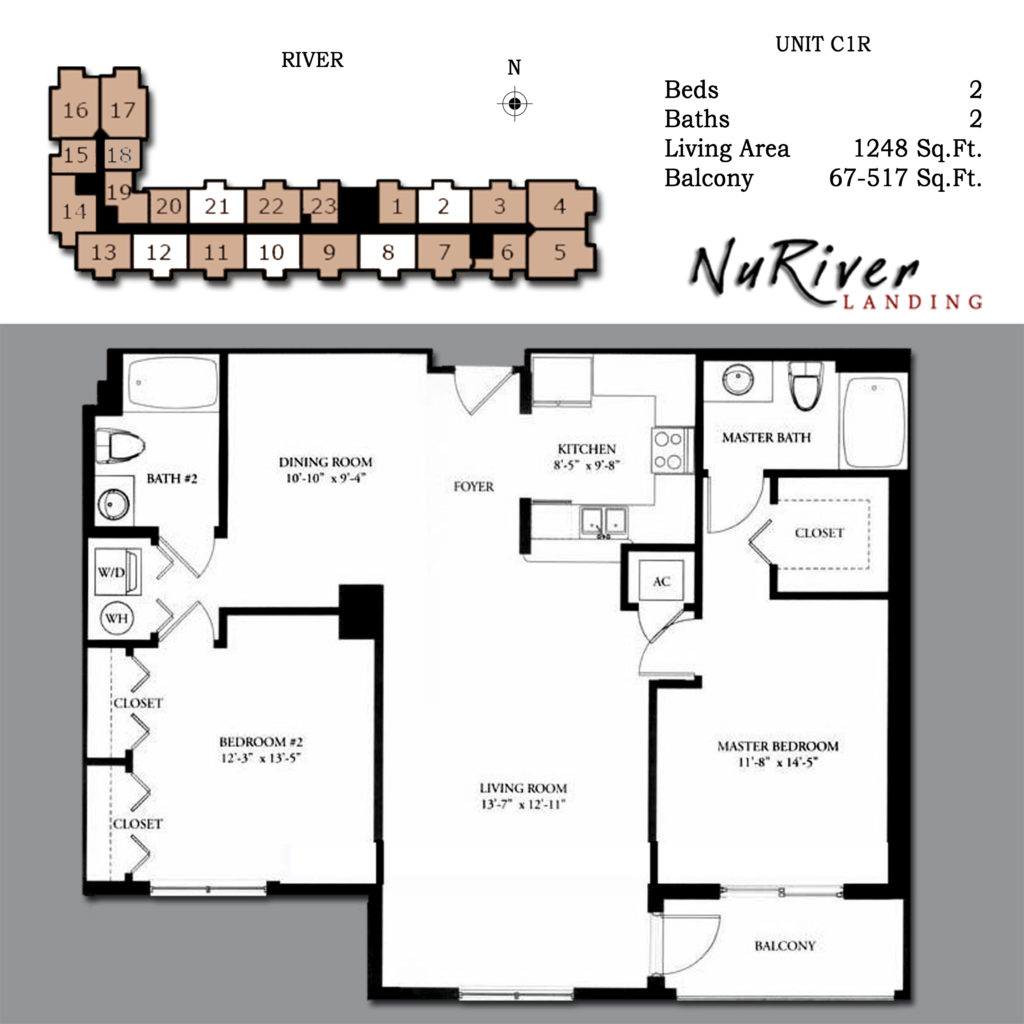 Floor plans welcome to the nu river landing condo for Two story condo floor plans